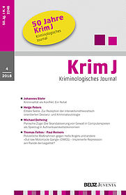 Kriminologisches Journal 4/2018