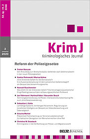 Kriminologisches Journal 2/2020