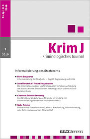 Kriminologisches Journal 3/2019