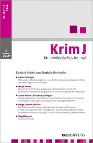 Kriminologisches Journal 1/2019