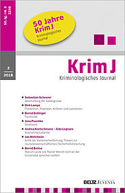 Kriminologisches Journal 3/2018