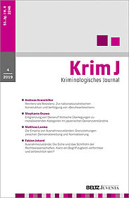 Kriminologisches Journal 4/2019