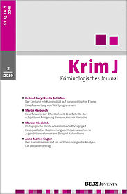 Kriminologisches Journal 2/2019