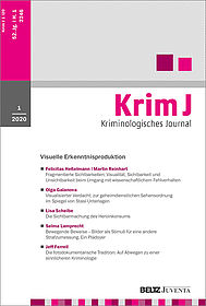 Kriminologisches Journal 1/2020
