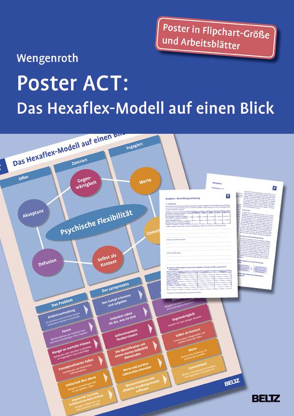 Poster ACT - Das Hexaflex-Modell auf einen Blick. Poster in ...