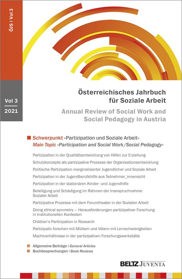 """Bild vom Buchcover """"Österreichisches Jahrbuch für Soziale Arbeit"""""""