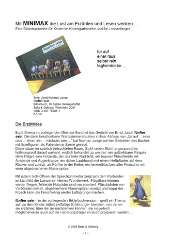 Fünfter Sein Vierfarbiges Bilderbuch Ernst Jandl Norman