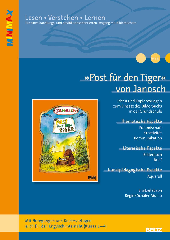 Post für den Tiger« von Janosch - Ideen und Kopiervorlagen zum ...