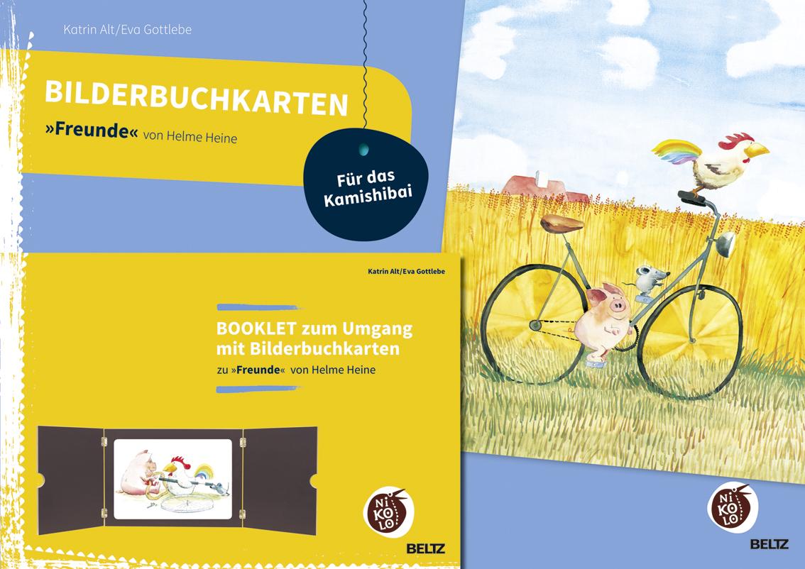 bilderbuchkarten freunde von helme heine mit booklet zum umgang mit 12 bilderbuchkarten f r. Black Bedroom Furniture Sets. Home Design Ideas