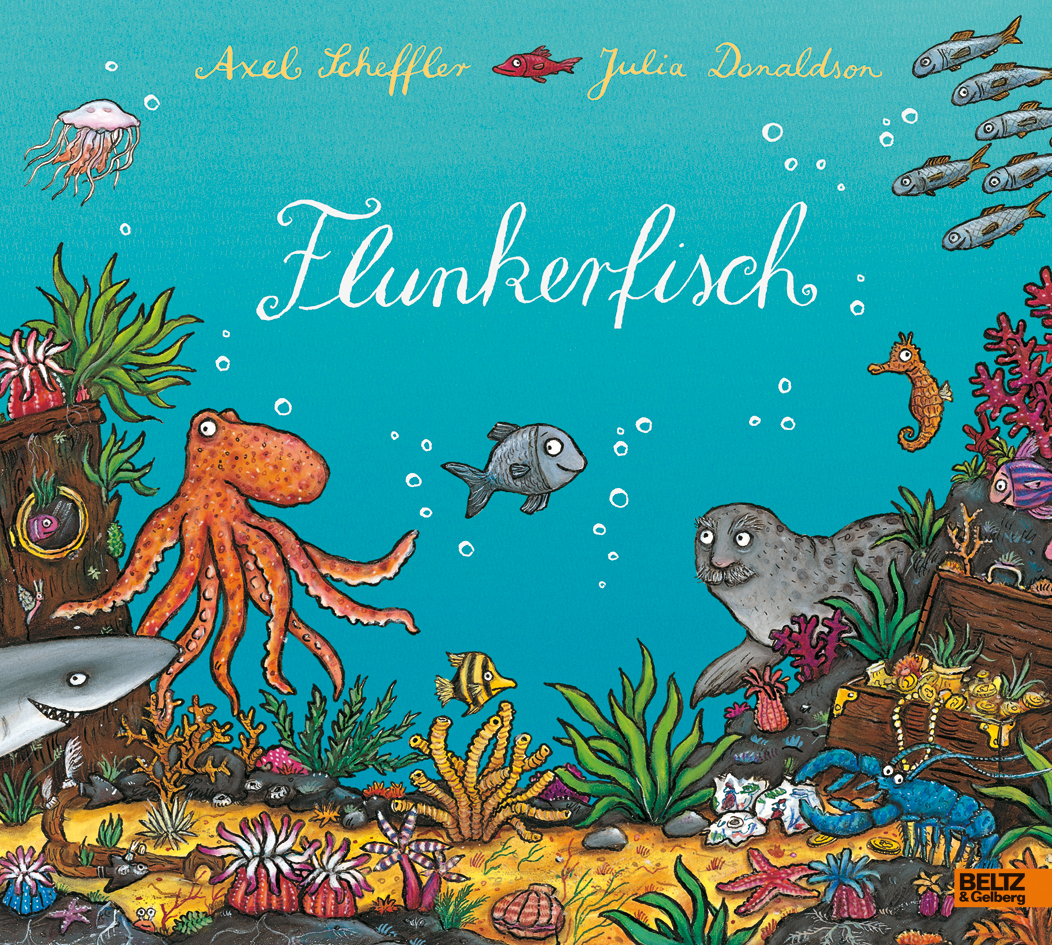 flunkerfisch vierfarbiges bilderbuch axel scheffler