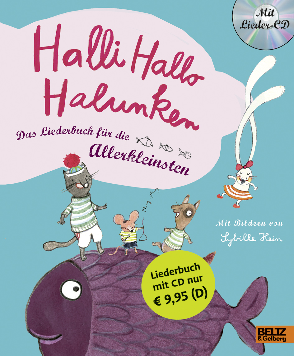 halli hallo halunken das liederbuch f r die allerkleinsten vierfarbiges pappliederbuch mit cd. Black Bedroom Furniture Sets. Home Design Ideas
