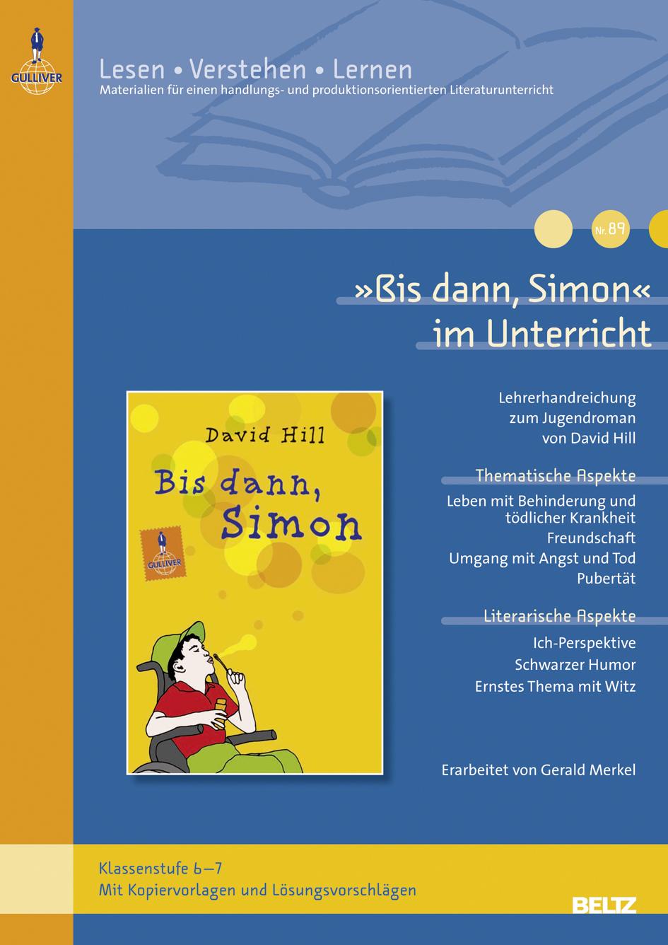 Bis dann, Simon« im Unterricht - Download | Lehrerhandreichung zum ...