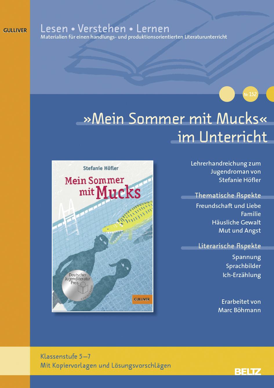 Mein Sommer mit Mucks« im Unterricht - Download | Lehrerhandreichung ...